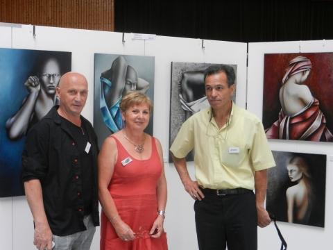 Huguette Avec les invités d'honneur Jil Pottier et Hocine Ziani.JPG