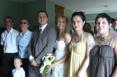 Les mariés et leurs témoins.JPG