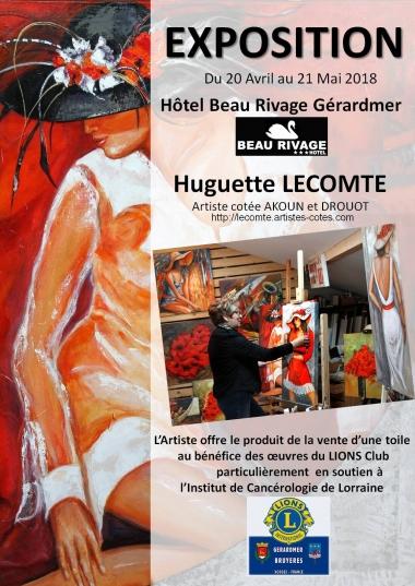 l'AFFICHE de l'EXPO Huguette Lecomte -2.JPG